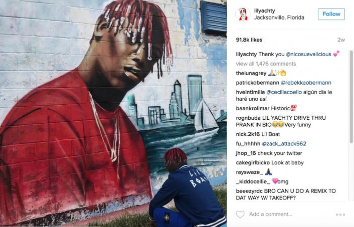 Lil yachty reveals mural was covered up by haters two for Lil yachty mural