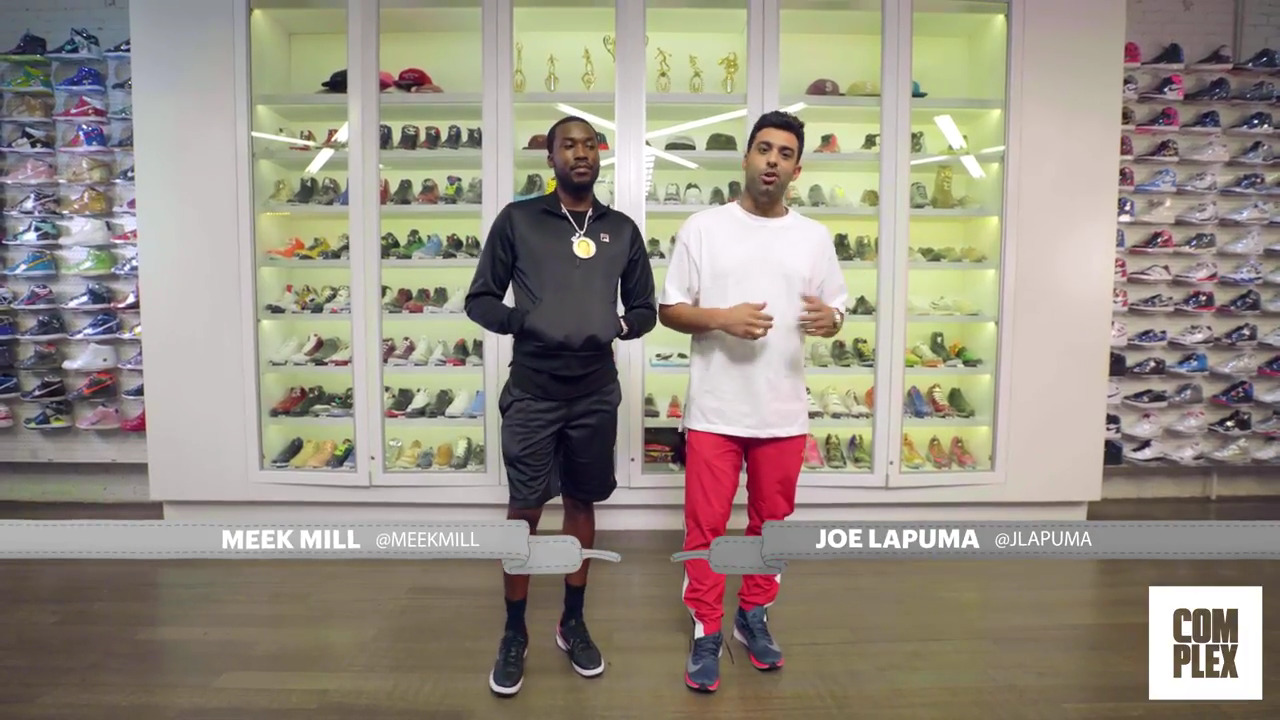 great fit c442b bfd39 Meek Mill Goes Sneaker Shopping With Complex